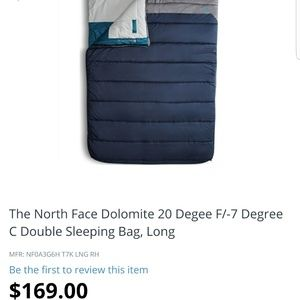 The North Face Other - North face sleeping bag for 2 full size ppl
